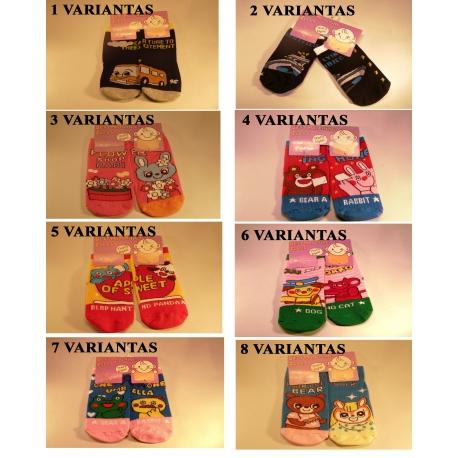 Anti-slydimo dizaino kojinės kūdikiams