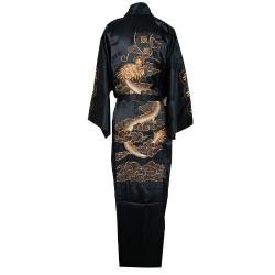 """Juodas kimono - jukata """"Drakonas"""" JAM ir JAI"""