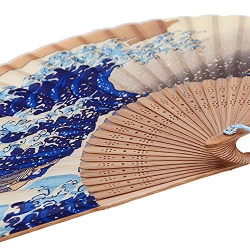 """Vėduoklė """"Ukiyo-e. Didžioji banga"""""""