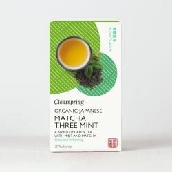 Ekologiška žalioji arbata MATCHA THREE MINT CLEARSPRING