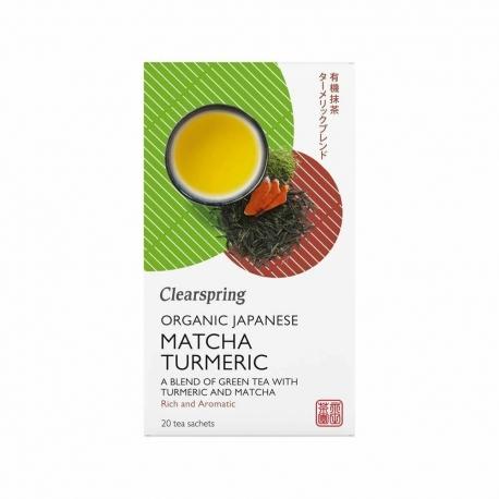 Ekologiška žalioji arbata MATCHA TURMERIC CLEARSPRING