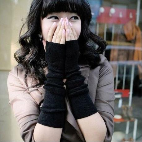 Japonų mados kumštinės pirštinės moterims